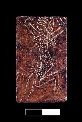 A bone inlay illustrating a Canaanite dancer