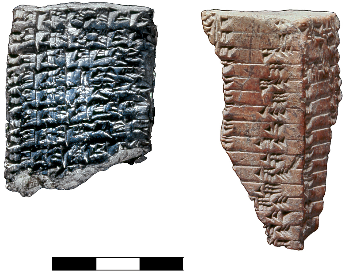 Two clay tablets