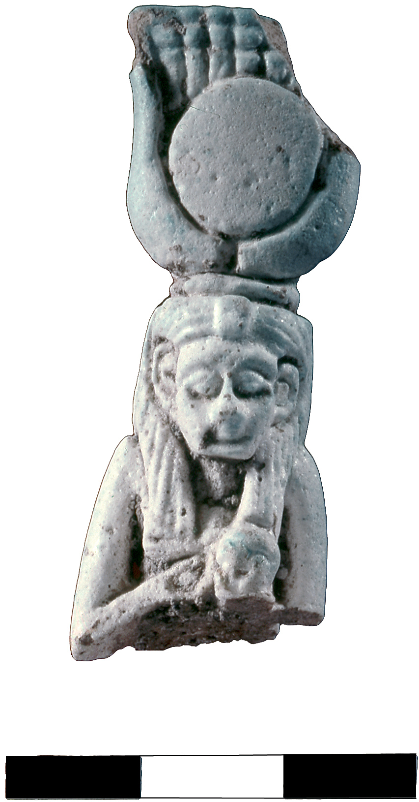 A faience amulet, dated to the Iron Age