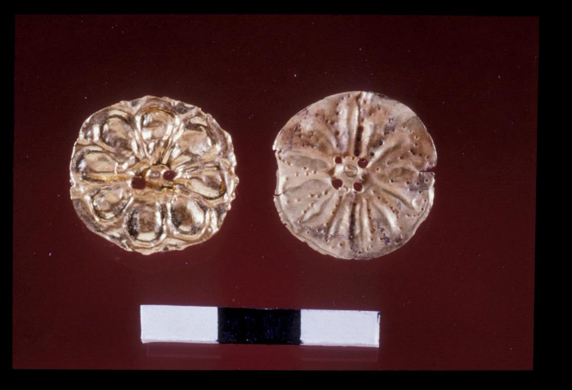 Gold jewellery, found in the Late Bronze Age Ceremonial Precinct