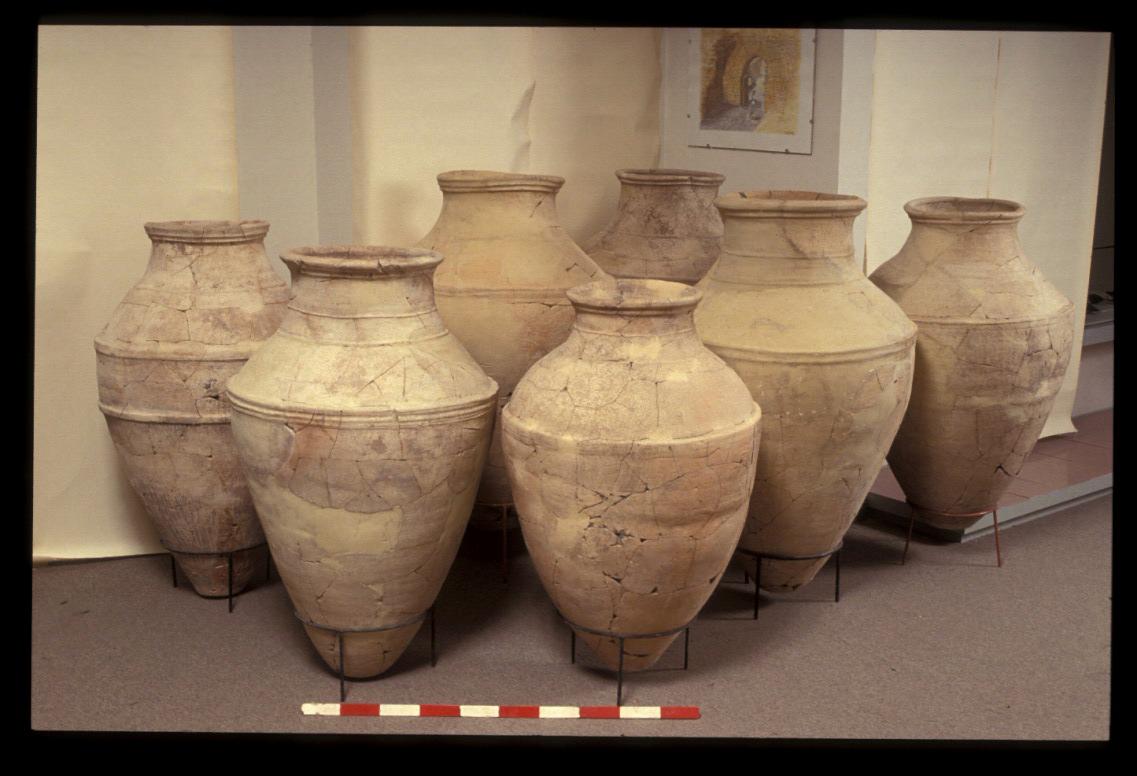 Late Bronze Age pithoi found in the Ceremonial Precinct
