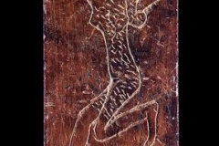 A bone inlay illustrating a Canaanite dancer